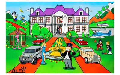 Alec Monopoly, 'Monopoly Mansion with Characters ', 2019