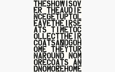 Christopher Wool, 'Untitled (The Show is Over)', 1992