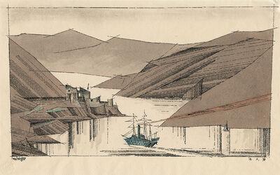 Lyonel Feininger, 'Norwegischer Fjord', 1936