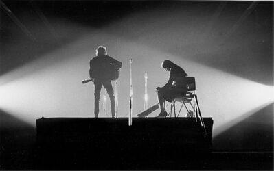 Daniel Kramer, 'Bob Dylan and Joan Baez in Crossed Lights, New Haven, Connecticut, ', 1965