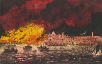 Currier & Ives, 'The Great Fire at Boston, Nov. 9 & 10, 1872', 1872