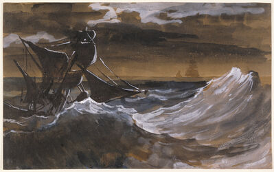 Théodore Géricault, 'Sailboat on the Sea', 1818-1819