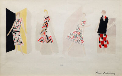 Sonia Delaunay, 'Fashion sketches and designs from 1925 & 1924', 1924-1925