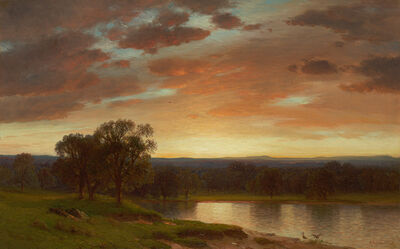 Samuel Colman, 'Twilight, Valley of the Genesee'