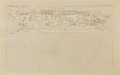 Frank Lloyd Wright, 'Summer residence of Harold McCormick at Lake Forest, IL, From the Lake; Plate LIX from the Wasmuth Portfolio', 1910