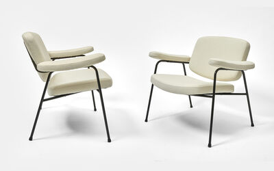 Pierre Paulin (1927-2009), 'Pair of CM 190 Low Armchairs', ca. 1954