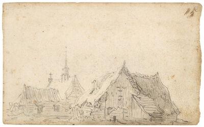 Jan van Goyen, 'Before a farmhouse', 1650