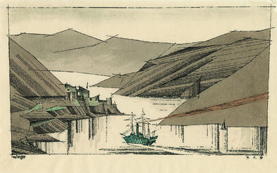 Lyonel Feininger, 'Norwegian Fjord', 1936