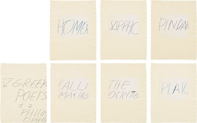 Cy Twombly, 'Five Greek Poets and a Philosopher', 1978