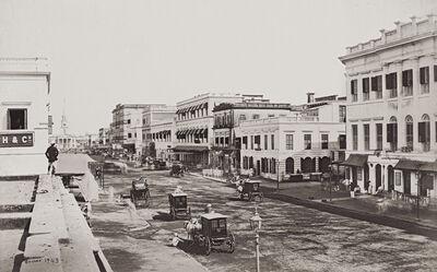 Samuel Bourne, 'Old Court House Street ', 1865