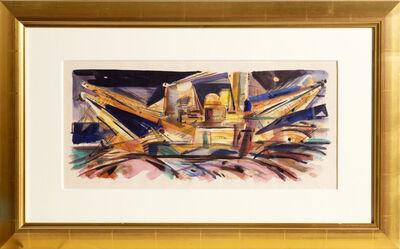 """Wayne Thiebaud, '""""Gold Dredgers"""" Sacramento ', ca. 1960"""