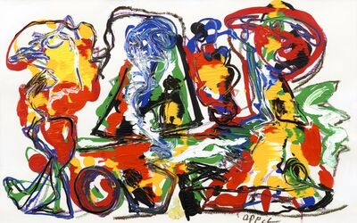 Karel Appel, 'People in landscape', 1989