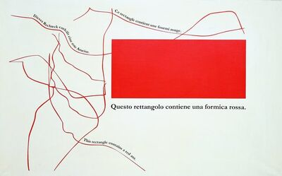 Emilio Isgrò, 'Rossa rouge rote red', 2012