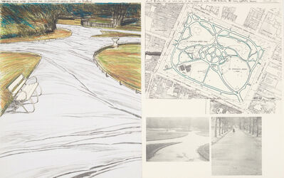 Christo and Jeanne-Claude, 'Wrapped Walk Ways, Project for St. Stephen's Green Park, Dublin', 1983