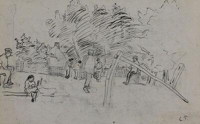 Camille Pissarro, 'Auvers-sur-Oise Étude', 1890