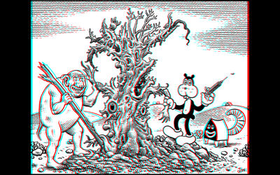 Jim Woodring, 'Frank in the 3rd Dimension', 2015