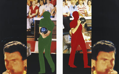 John Baldessari, 'Two Bowlers (with Questioning Person)', 1994