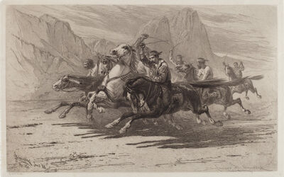 James David Smillie, 'Rough Sport in the Yosemite', 1886
