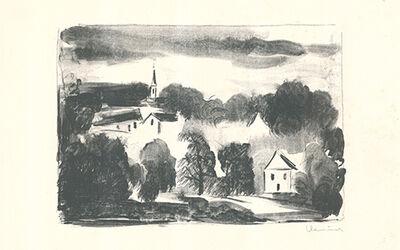 Maurice de Vlaminck, 'Théméricourt le clocher dans les arbres', 1925