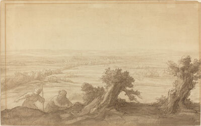 Alphonse Legros, 'View over Flat Country', 1906