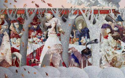 Anna Berezovskaya, 'Picnic in the Autumn-Winter Forest', 2018