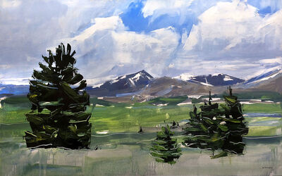 David Shingler, 'Mt. Evans and Bierstadt Colorado', 2017