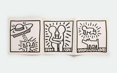 Keith Haring, 'Keith Haring 1984 poster announcement (Keith Haring at Paul Maenz 1984)', 1984