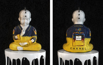 Metis Atash, 'CHANEL NO. 5 in blue and yellow III feat Warhol', 2017