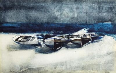 Lorenzo Vespignani, 'Boats', executed in 1963