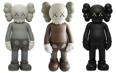 KAWS, 'Companion Sets of 3 (black brow grey)', 2017