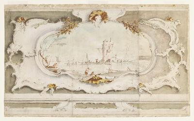 Francesco Guardi, 'Decorative Cartouche with a Landscape', ca. 1770