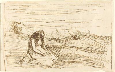 Jean-Baptiste-Camille Corot, 'Mary Magdalene in Meditation (Madeleine en meditation)', 1858
