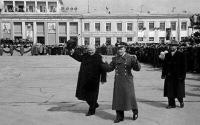 Leonid Lazarev, 'Moscow. Vnukovo. Nikita Khrushchev - Yuri Gagarin. April 14, 1961', 1961