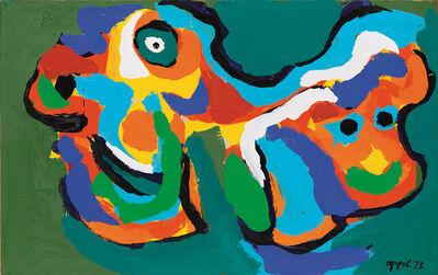 Karel Appel, '2 heads', 1973