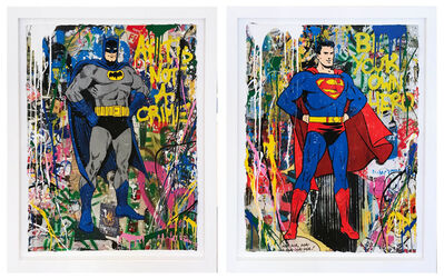 Mr. Brainwash, 'Batman and Superman', 2018