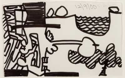 Carroll Dunham, 'The Search for Orgone (a group of four works)', 2000-2001