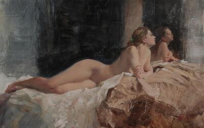 Michael Alford, 'Nude, Taffeta - figurative female interior study', 2020