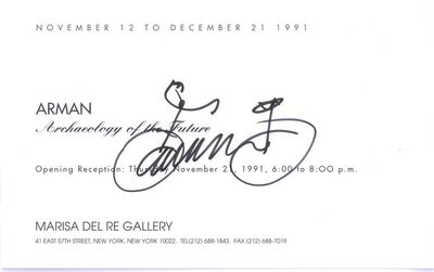 Arman (1928-2005), 'Bicycle Drawing ', 1991