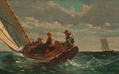 Winslow Homer, 'Breezing Up (A Fair Wind)', 1873-1876