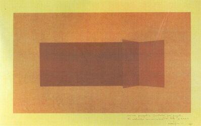 Francesco Lo Savio, 'Visione prospettica frontale per progetto di metallo monocromatico NERO di m. 3x1', 1961