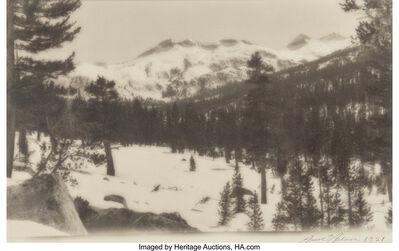 Ansel Adams, 'Triple Divide Peak, Ottoway Peak, Merced Peak, Yosemite', 1921