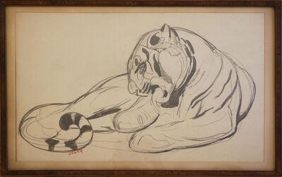Paul Jouve, 'Original Drawing of a Panther by Paul Jouve, France, Art Deco, Circa 1925', ca. 1925