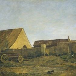 Charles François Daubigny, 'The Farm', 1855