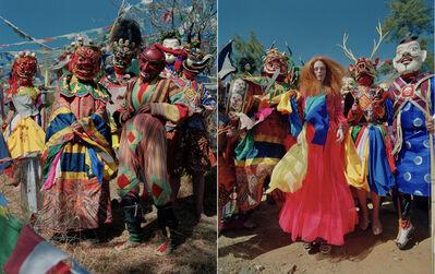 Tim Walker, 'Karen Elson with Folk Dancers of Bhutan. Thimphu, Bhutan.', 2015