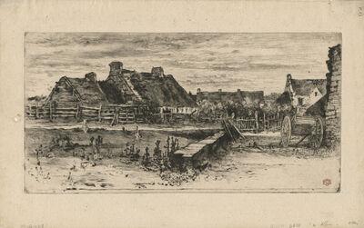 Félix Hilaire Buhot, 'Les Grandes Chaumières', 1881