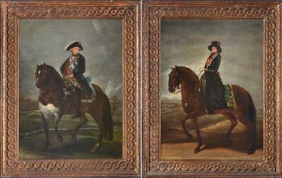 Eugenio Lucas Velázquez, 'Carlos IV y Maria Luisa de Parma a caballo', ca. 1835