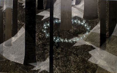 "Michiko Itatani, '""Redon's Garden"" painting from Moon-light/Mooring MM-3 2007-B-002', 2007"