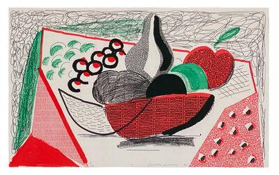 David Hockney, 'Apples Pears & Grapes', 1986