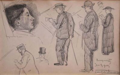 Jean Gabriel Domergue, 'Paris, Les Bouquinistes sur les quais, (The booksellers on the banks)', ca. 1920