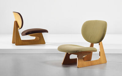 Junzo Sakakura, 'Pair of lounge chairs, model no. 5016', designed 1957, produced 1964, 1988